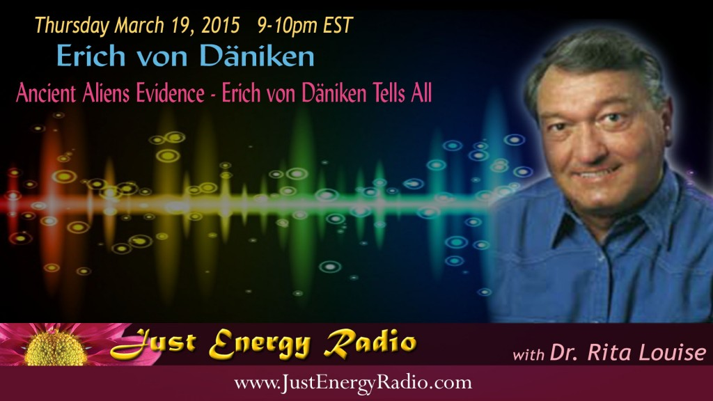 Erich von Däniken on Just Energy Radio - 15-03-19