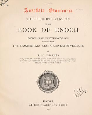 Book of Enoch - R. H. Charles